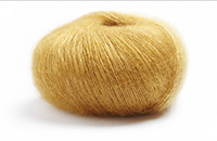 Laine kid mohair soie lamana Premia coloris curry D