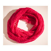 Snood mohair fushia D
