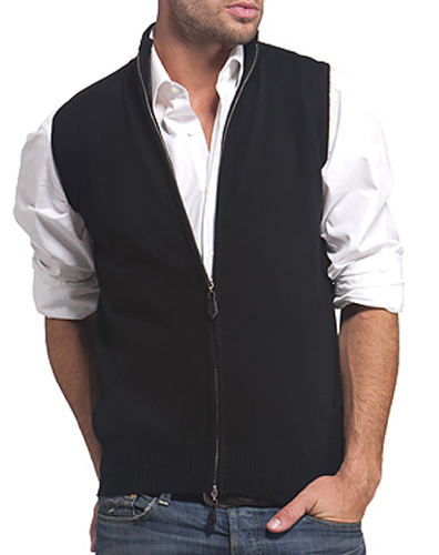 gilet cachemire homme zip sans manches swan. Black Bedroom Furniture Sets. Home Design Ideas